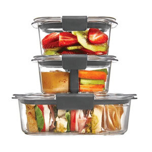 Dividing containers for school lunches photo