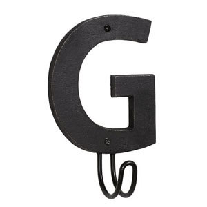 G alphabet letter hook for entryway photo