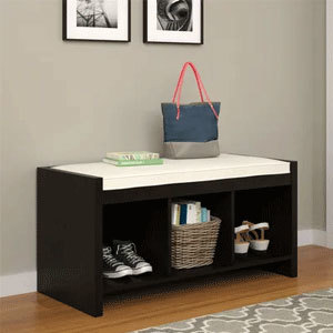 Storage bench for the front entryway photo