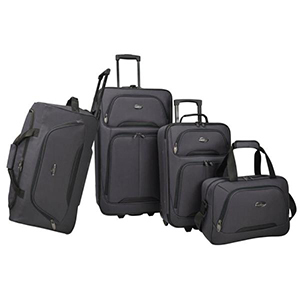 4-Piece softside luggage set in charcoal from The Home Depot photo