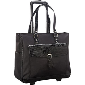 Black laptop business tote overnighter carry on bag from The Home Depot photo