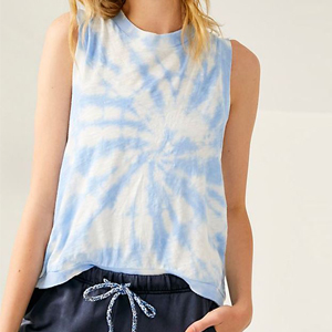 Blue tie-dye tank top from Free People photo