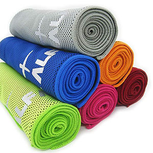 Multiple colored towels photo