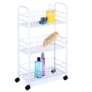 White wire cart with three tiers photo