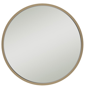 Round wall mirror with thin frame photo