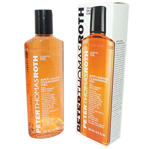 Bottle of cleansing gel by Peter Thomas Roth at Walgreens photo