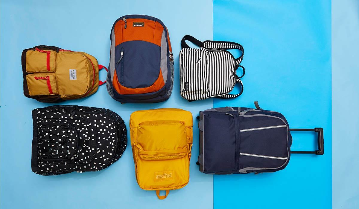 Six different backpacks photo
