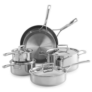 10-Piece stainless steel cookware set by Sur La Table photo