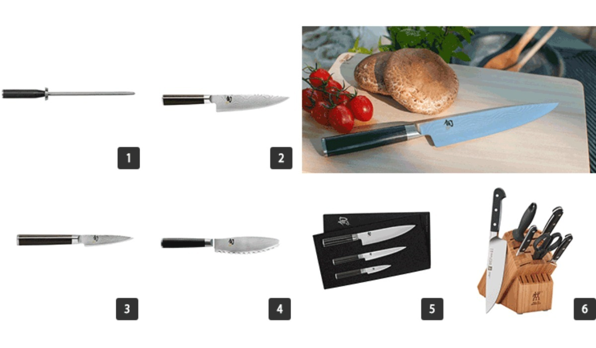 Images of knives and knife blocks photo