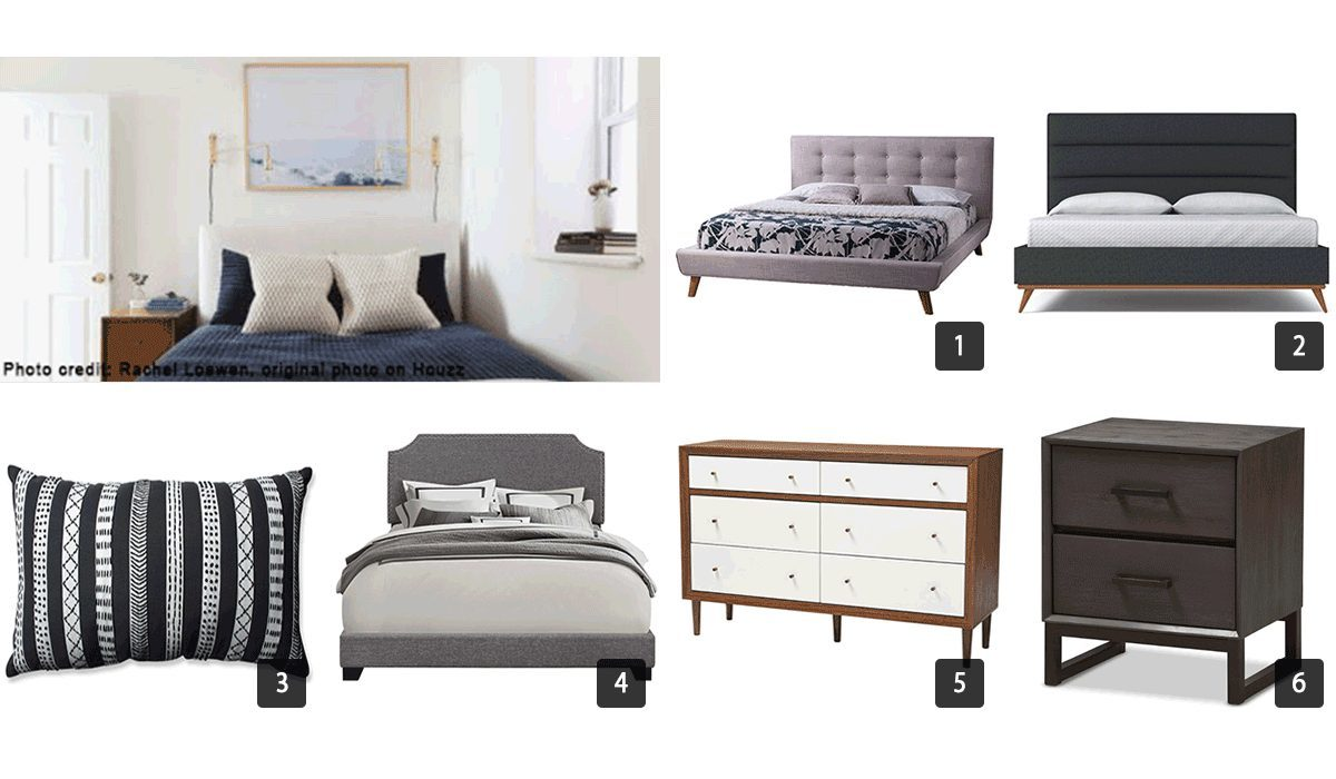 Images of bedroom furniture including beds and dressers photo