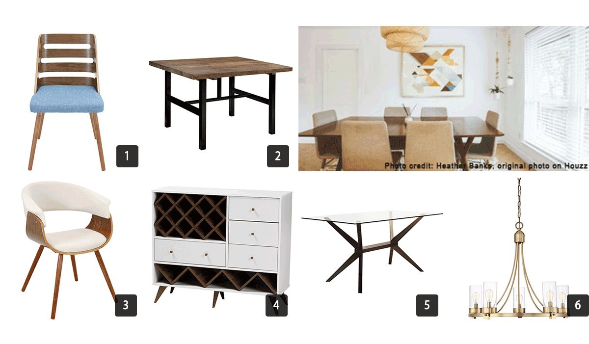 Images of dining room furniture including chairs and tables photo