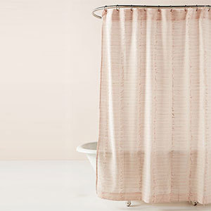 Pink detailed shower curtain from Anthropologie photo