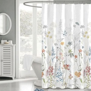 Floral fabric shower curtain from Bed Bath and Beyond photo