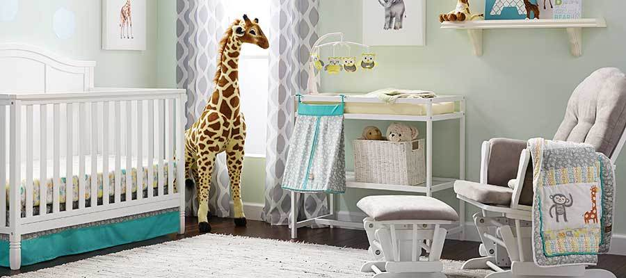Baby's nursery room with essentials from Walmart photo