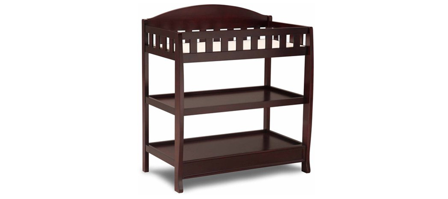 Dark brown wooden changing table from Walmart photo