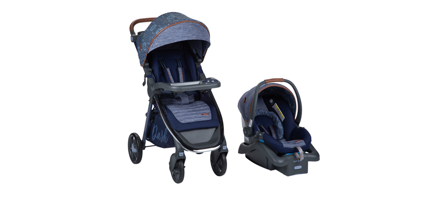 Monbebe stroller and car seat in navy from Walmart photo