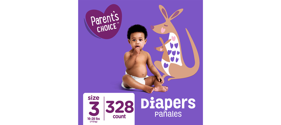 Parent's Choice 328 count of diapers from Walmart photo