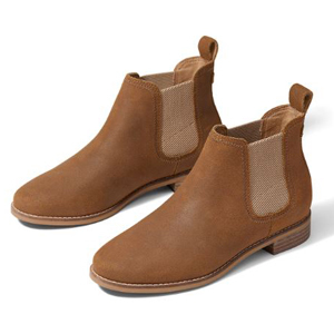 Brown suede booties from TOMS photo