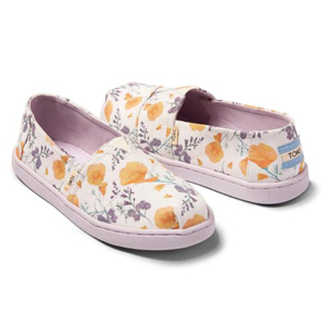 Kids canvas classic TOMS with a floral print photo