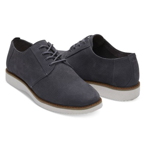 Black and white Nubuck dress shoes by TOMS photo