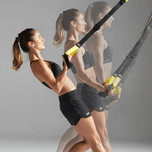 Suspension training for upper and lower body photo