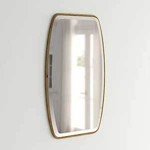 Rectangular wall mirror with curved edges from Joss & Main photo