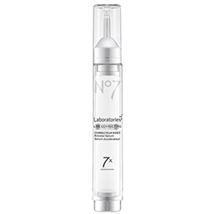 Tall white tube of No7 Line Correcting Booster Serum photo