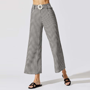 Black and whtie gingham pants photo