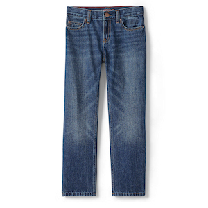 Lands' End Boys Iron Knee Classic Fit Jeans photo