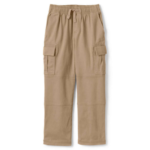 Lands' End Boys Iron Knee Stretch Pull On Cargo Pants photo
