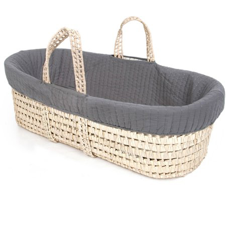Tadpoles Line Stitched Moses Basket and Bedding Set photo