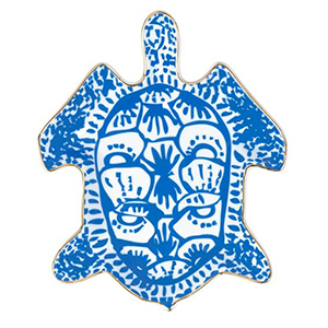 Blue and white turtle tray photo