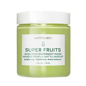 Green tub of Earth to Skin Super Fruits avocado mask photo