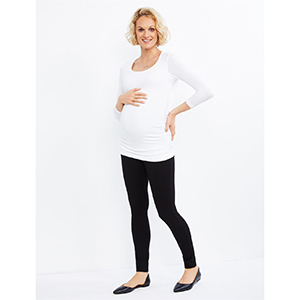 A Pea in the Pod Secret Fit Belly Ponte Skinny Maternity Pants photo
