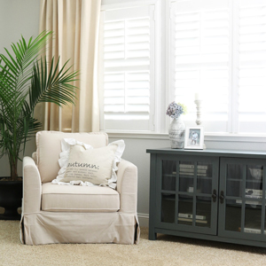 Easton arm chair and oxford square TV console photo