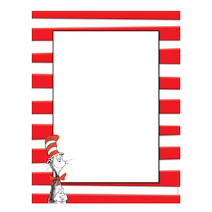 Eureka Red and White Dr. Seuss Cat in the Hat Computer Paper for Kids photo