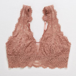 Pink lace bralette from Aerie photo