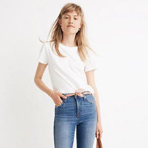 Basic white tee from Madewell photo