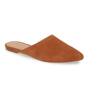 Light brown suede mules from Nordstrom photo