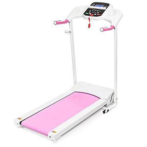 Pink and white portable treadmill photo