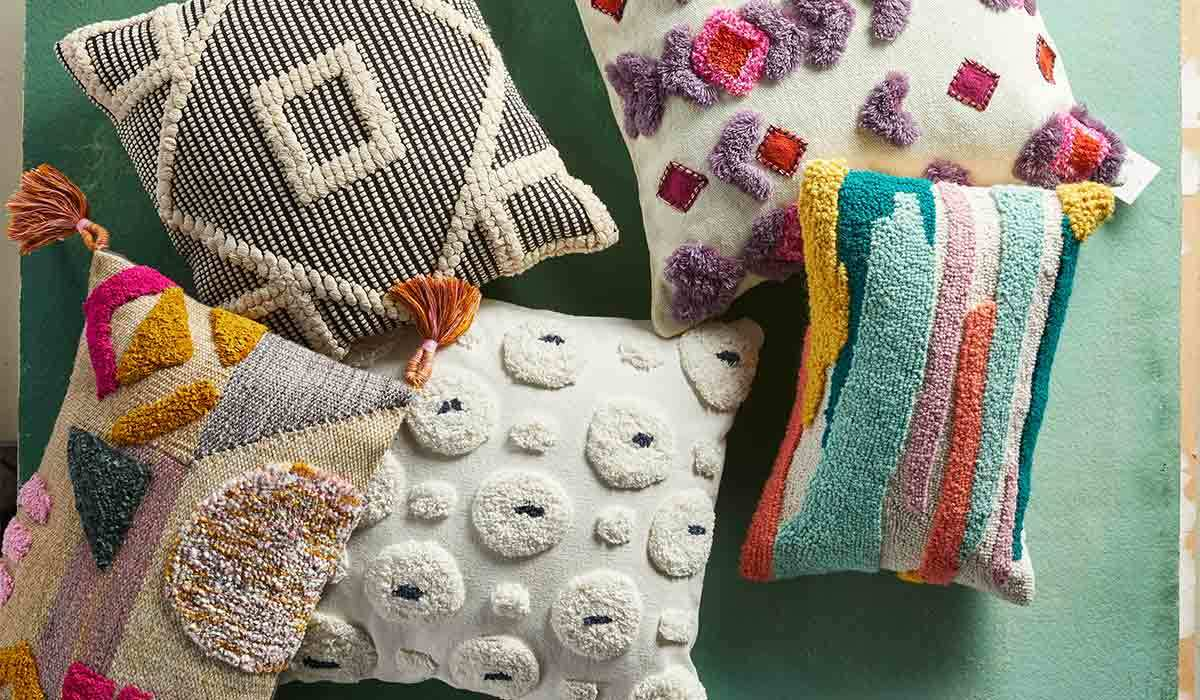Colorful pillows photo