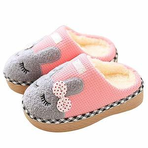 SITAILE Girls Fur Lined Bunny Slippers photo
