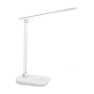 White LED adjustable desk lamp with touch control photo