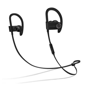 Black Beats wireless earbuds with a built-in mic photo