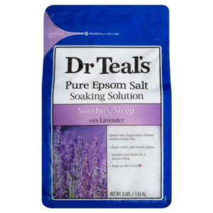 Dr Teal's pure epsom salt soaking solution in lavender from Target photo