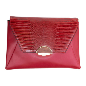 BCBGMAXAZRIA Madelina Large Convertible Clutch in scarlet red from Macy's photo