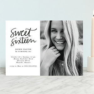 'Simply Chic' Birthday Party Invitation for Big Kids photo