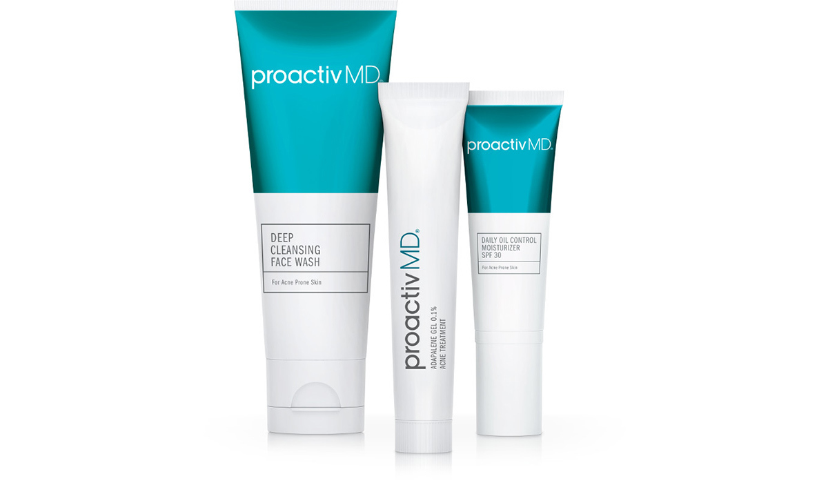 Three white and blue tubes of ProactivMD photo