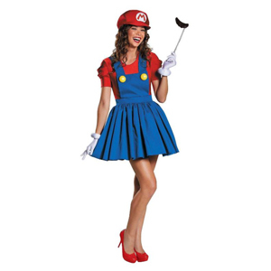 Adult Super Mario costume with skirt photo