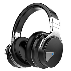 A pair of wireless headphones with noise canceling abilities photo